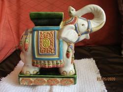 Díszes, nagy elefánt kerámia tartó/támasz