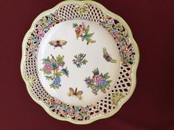 Herendi Viktória áttört fali tányér 34cm