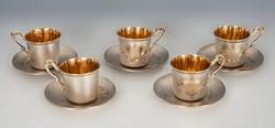 Ezüst kávés készlet (5 személyre)
