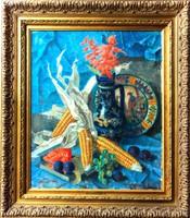 Nemessányi Kontuly Béla: Csendélet kukoricával