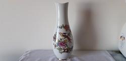 Hollóházi porcelán paradicsommadaras váza