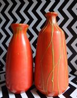 Tófej retro kerámia váza páros
