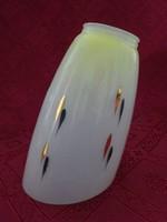 Üveg lámpa búra, hossza 20 cm. foglalati külső átmérő 5,5 cm.