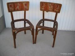 Antik szecessziós hiányos szék 2 db