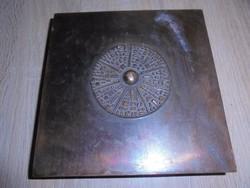 Jelzett Kopcsányi Ottó doboz fa belsővel