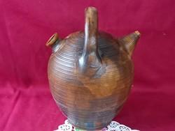207/1  Graf Stoob osztrák keramikus boros edénye 23x16 cm különleges darab a csörnél pici hiba