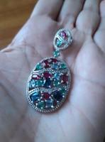 Valodi Sotetkek Topaz Smaragd Rubin 925 Ezust Medal