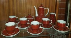 Hollóházi (1979-1985) között készült 6 személyes mokkás/ kávés készlet