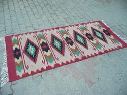 Antik,  kilim szőnyeg  szép állapotban 200*85 cm méretben kb.1930-40 környéke