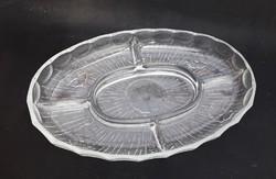 Virágos osztott üveg asztalközép - kínáló