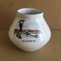 Budapest váza, régi szuvenír, Bodrogkeresztúr