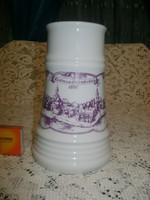 Alföldi porcelán sörös korsó Hódmezővásárhely felirattal és látképpel