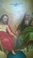 Szentháromság antik  festmény  o.,v.  restaurált