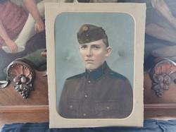Régi katona, színezett fotó