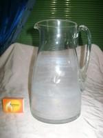 Régi metszett üveg kancsó - sérült