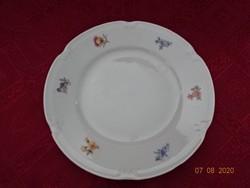 Drasche porcelán, virágmintás süteményes tányér, átmérője 19 cm.