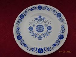 Alföldi porcelán kék népi mintás falitányér. átmérője 23,5 cm.