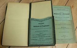 ERDÉSZETI SEGÉDKÖNYV 1874 - FORSTLICHES HÜLFSBUCH FÜR SCHULE u.PRAXIS mérnöki mércével