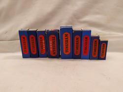 9 db régi Tungsram rádió cső,elektron cső dobozában.