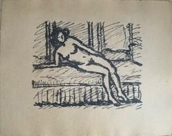 Rippl-Rónai József (1861 – 1927): Cinknyomat az 1910-es években készült albumból – 1 lap