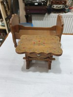 Régi fa gyerekjáték bútor