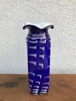 Nagy mintás nehéz üveg váza üvegváza P226