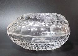 Parádi  kristály tojásdad ékszertartó