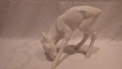 Schaunbach Kunst nagyobb porcelán őz szobor