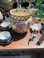 Zsolnay porcelán nagyméretű kaspó , váza
