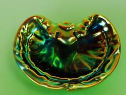 Zsolnay eozin kobrás tál, kiskagyló
