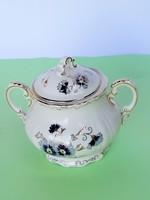 Zsolnay búzavirág mintás cukortartó teás készlethez pótlásnak