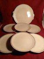 1212 6 személyes süteményes készlet 6 tányér 19 cm 1 tál 26 cm gyönyörű mintával