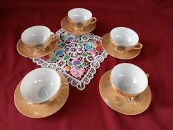 209/1 5 személyes japán lithophane tojáshéj porcelán csésze alátéttel