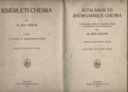 Dr. Rex Sándor :Általános és anorganikus chemia  Mai Henrik és fia Könyvkiadó, 1920