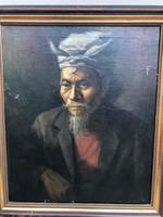 Portré párban olaj-vászon