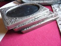 3 db régi ezüstözött képkeret