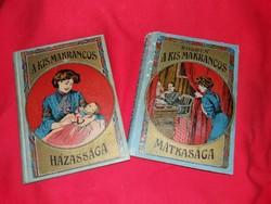 Antik regény Wildhagen Elza  A Makrancos Hölgy 2 kötet szép illusztrációkkal dombor bőr kötésben