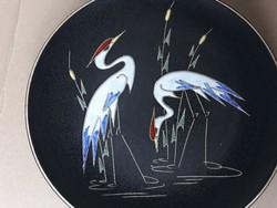 Gyönyörű jelölt Ruscha madaras kerámia falitányér