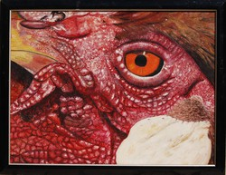 Delaunois andre: arrogance - oil painting frame