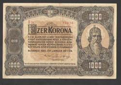 1000 korona 1920.   VF+++!!  100 ÉVES!!  GYÖNYÖRŰ!!