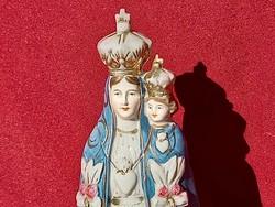 208 Maria a kis Jézussal ritka mázas kerámia szobor  Sérült!