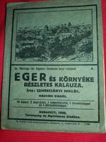 Antik 1930 EGER környéke gyönyörű  állapotban 2 térképpel..és gazdagon illusztrálva