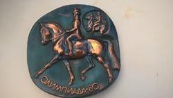 Olimpia falidísz 1980 lovaglás réz