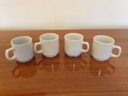 Régi Zsolnay porcelán fehér kávés csésze 4 db