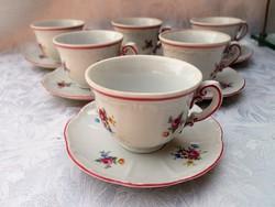 6 db Zsolnay kávés csésze + alátét
