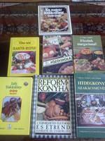 Szakácskönyvek eladók, hibátlan, nem igen használt, ajándéknak is jó