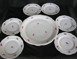 Zsolnay porcelán süteményes készlet