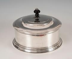 Ezüst nagy méretű kerek kínáló/ bonbonier