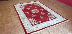 2229 kézi csomózású meseszép kínai gyapjú perzsa szőnyeg 240x170
