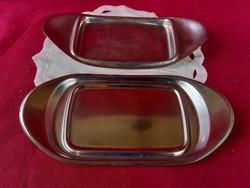 012 2 db rozsdamentes kínáló tálca 22x11 cm WMF és Tischfein